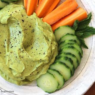 Avocado Mint Tahini Dip.