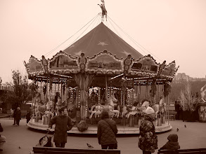 Photo: One of the old carousels in the Eiffel Tower area.