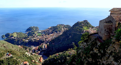 Photo: Looking down on Monte Tauro and Taormina