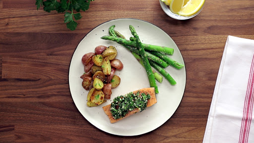 Easy Baked Salmon with Herb Butter