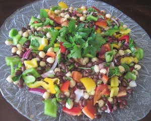2 beans and sweet pepper salad