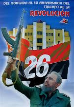 Photo: poster of july 26 celebration, cuba