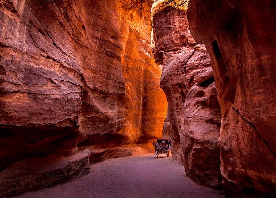 Petra, Amman, Jordan by Jerry ME Tanigue - Landscapes Caves & Formations ( , #GARYFONGDRAMATICLIGHT, #WTFBOBDAVIS )