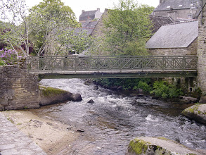 Photo: The village's main natural attraction is the rushing water of the Aven river.