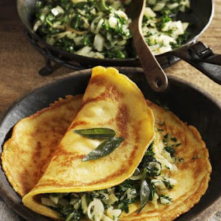 Gram Flour Pancakes with Chard and Fennel.