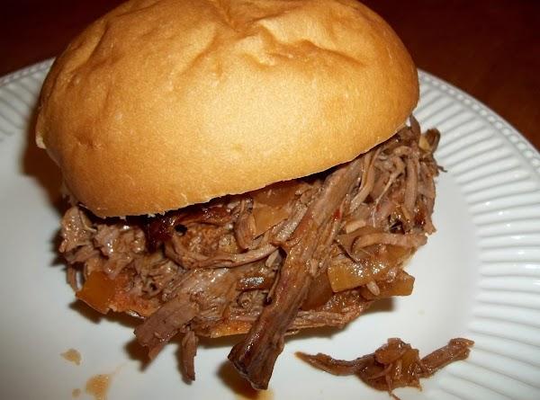 Shredded Beef Sandwich (crock Pot) Recipe