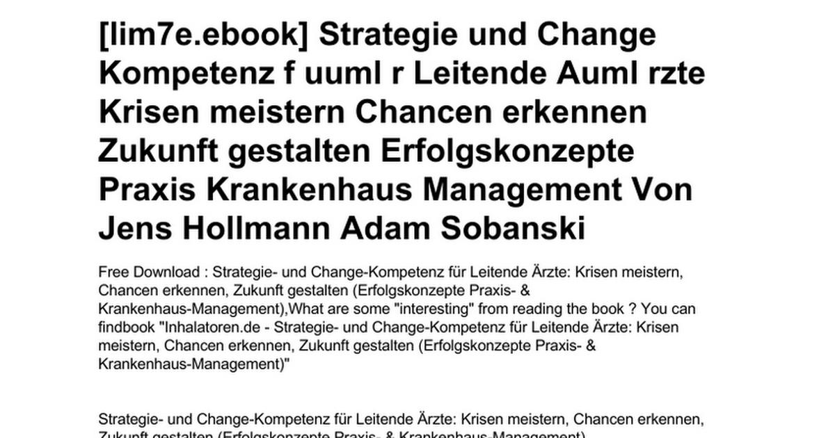 strategie-und-change-kompetenz-f-uuml-r-leitende-auml-rzte-krisen ...