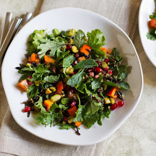 Pomegranate, Persimmon, and Pistachio Wild Rice Salad.