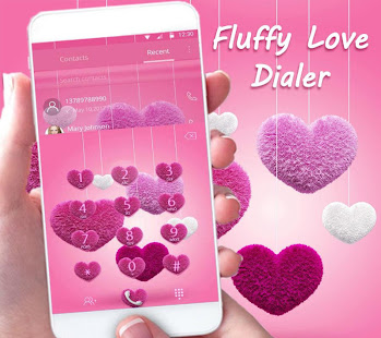 Download Android App Fluffy love Theme Pink heart for