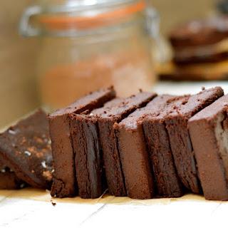 Double Chocolate Fudge Aubergine Brownies Recipe