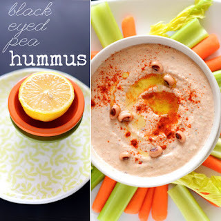 Black Eyed Pea Hummus Rings in the New Year Healthfully