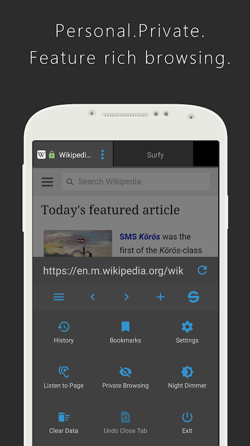Surfy Browser- screenshot