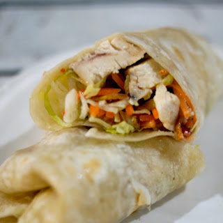 Quick and Easy Italian Chicken Wrap.