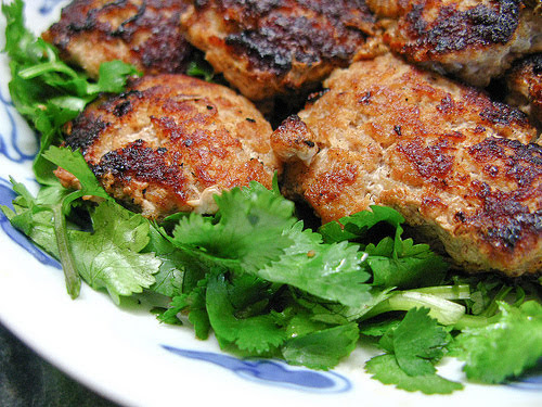 chinese pan fried pork patty salted fish sauce
