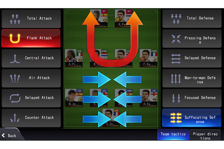 android LINE Football League Manager Screenshot 1