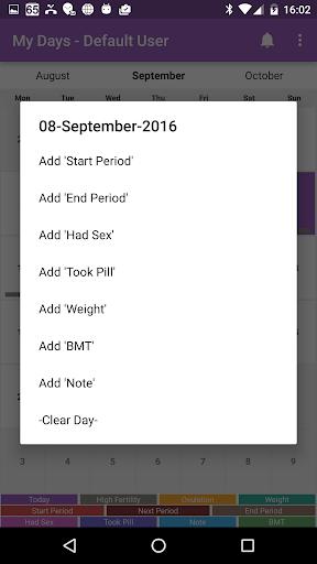 My Days  Period Ovulation screenshot 2