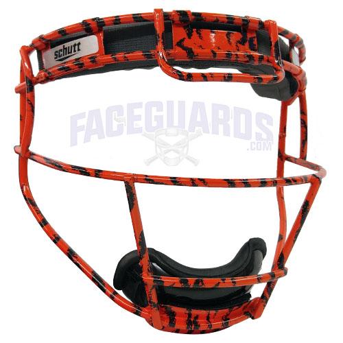 Schutt Custom Orange Tiger Stripe Fielders Mask