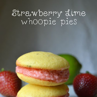Strawberry Lime Whoopie Pies