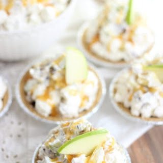 Easy Mini Caramel Apple No Bake Pies