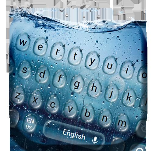 Live Rain Glass Waterdrops Keyboard