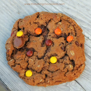 Monster Nutella and Peanut Butter Cookies Recipe
