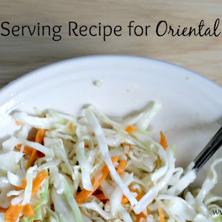 Single Serving Recipe for Oriental Salad