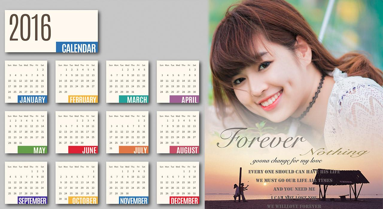 calendar frames 2016 screenshot