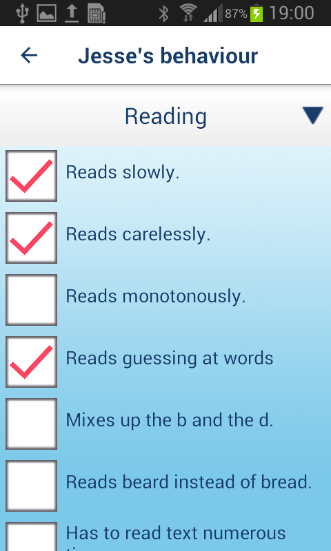 Dyslexia Test & Tips™- screenshot