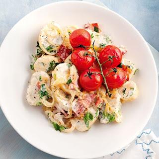 Caramelised Onion, Bacon And Roast Tomato Potato Salad