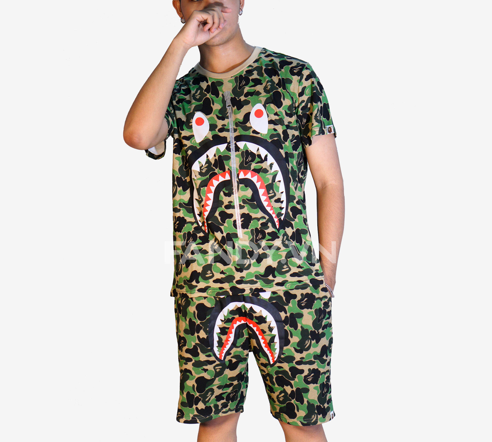ÁO T-SHIRT A BATHING APE ABC CAMO