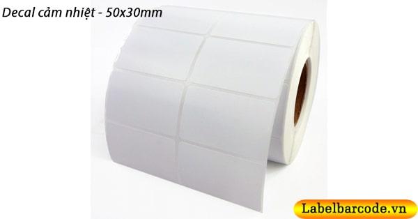 Giấy decal cảm nhiệt 50x30mm chính hãng FASSON