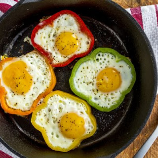 Colorful Bell Pepper Eggs