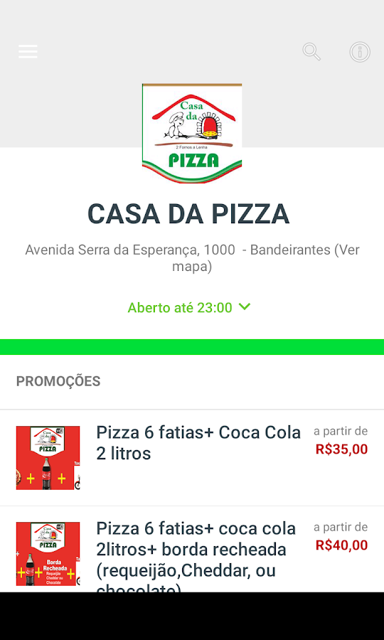 Casa da Pizza- screenshot