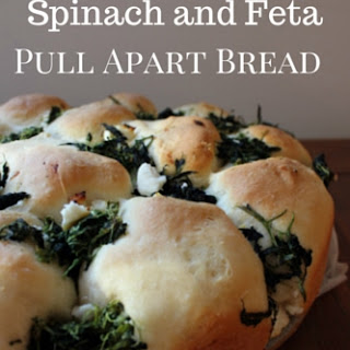 Spinach and Feta Pull Apart Bread