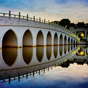 Reflection Bridge by Chester Chen - Buildings & Architecture Bridges & Suspended Structures