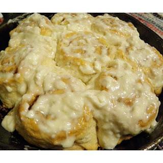 Cinnamon Rolls With Cream Cheese Glaze.
