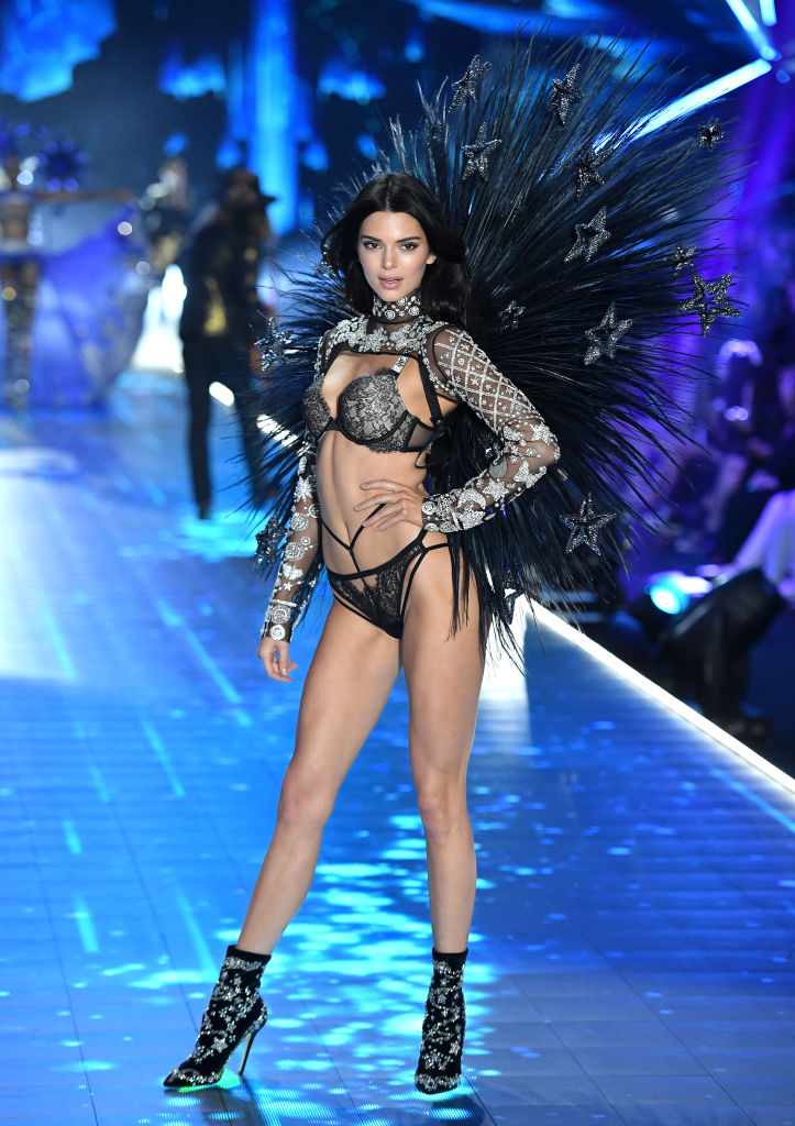 Kendall Jenner walks the runway during the 2018 Victoria's Secret Fashion Show on November 8 in New York City.