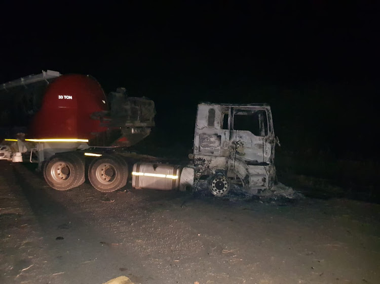Trucks and ambulance torched in Thabazimbi protests evening of June 20 2018