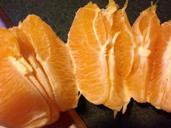 Peel the oranges