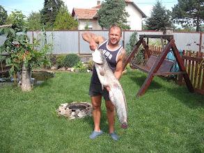 Photo: Oszoli István, 16 kilós harcsa (másik kép), 2011.07.29.