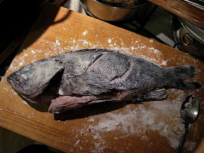 Photo: antoher view of the floured cod