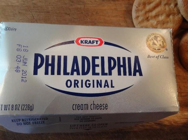 Soften the cream cheese to room temperature.