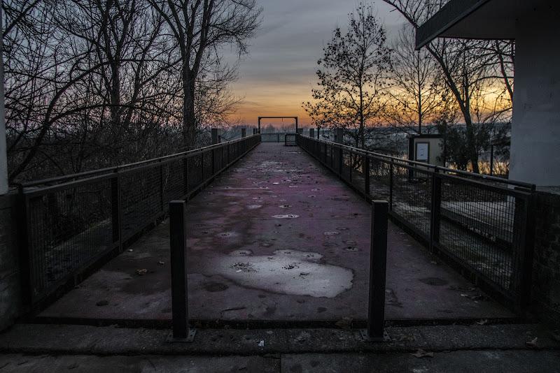 Attracco ponte in chiatte, quando i ritmi erano più calmi, sul Po di andrewsarco89