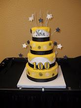 Photo: Nola Och's 100th Bday Cake