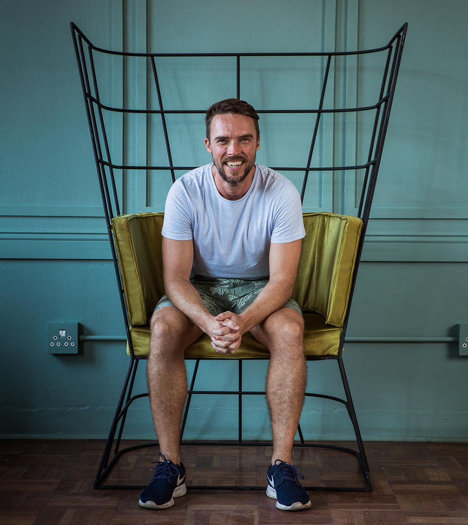 Gareth Henderson on his Privacy Chair