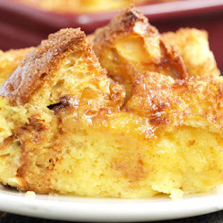 Eggnog French Toast Bake with Panettone & Brioche.
