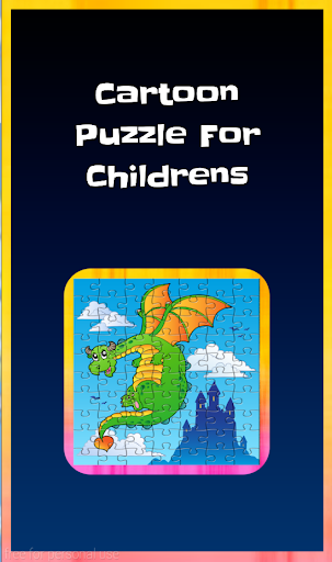 Cartoon Puzzle For Childrens