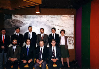 Photo: Standing - Chris Frauley, Paul Seguin, Keith Murfin, Robert Kilpatrick, John Scott, Gemma Kerr;  Seated - Dave Eastwood, Ross McIntyre, Neil Armstrong, Pierre DeGagne
