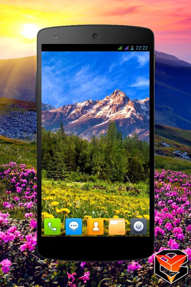 Mountain Flowers Pro Live Wallpaper Screenshot 0
