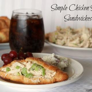 Simple Chicken Salad Sandwiches